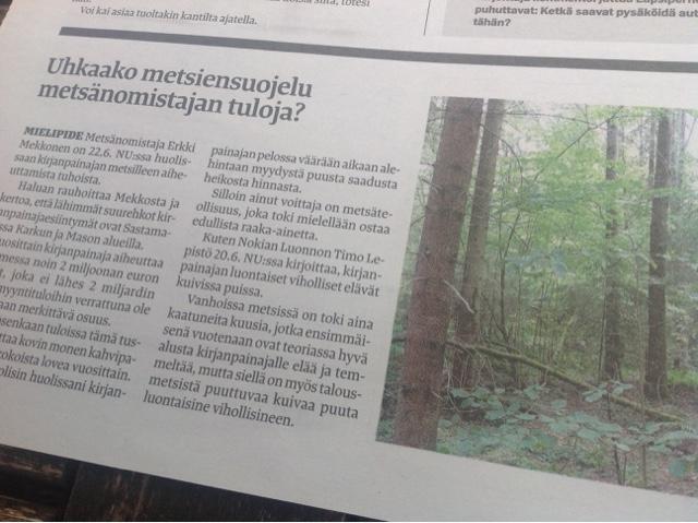 Siuron Metsat Suojeltava Antti Tomminen Nuorten Ja Puhtaan