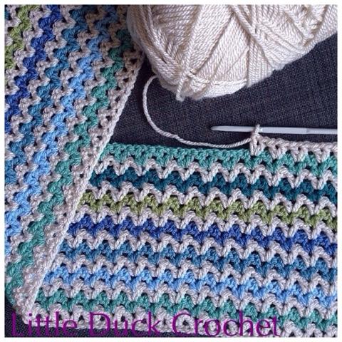 V Stitch Baby Blanket