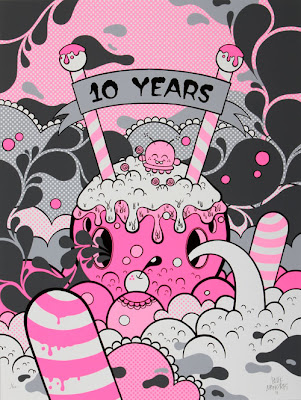 """10 Years"" Screen Print by Buff Monster"
