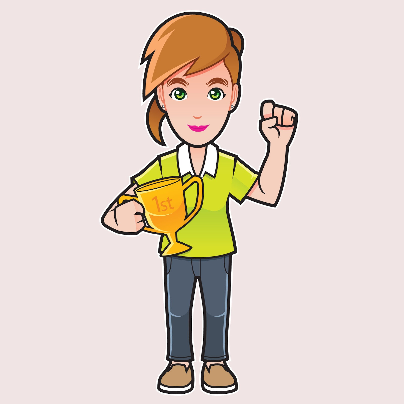 Champion Girl Free Download Vector CDR, AI, EPS and PNG Formats
