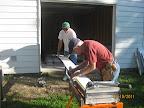 Cutting the Hardy Board Siding