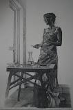 Caroline - 50 x 80 cm - potlood op papier (Serie 'Karakteristieke Hiekers')