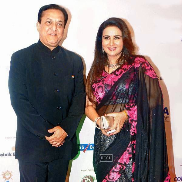 Rana Kapoor and Poonam Dhillon at the International Indian Achiever's Awards 2014 (IIAA) organised by Poetic Justice Events and Entertainment Pvt Ltd held in Mumbai.