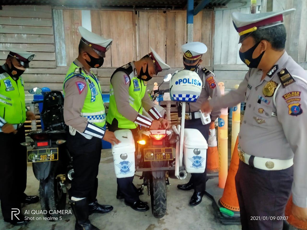 KBO Satlantas Polres Madina Cek dan Kontrol Ramor Dinas Roda Dua