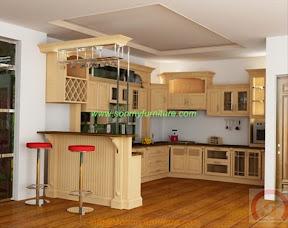 Tủ bếp gỗ tự nhiên BESM0112