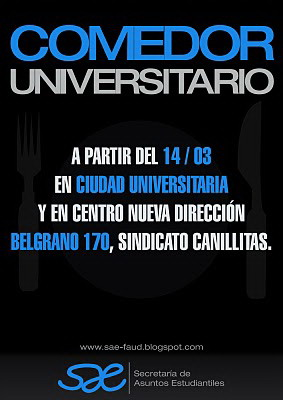 Geadi comedor universitario for Comedor universitario unc
