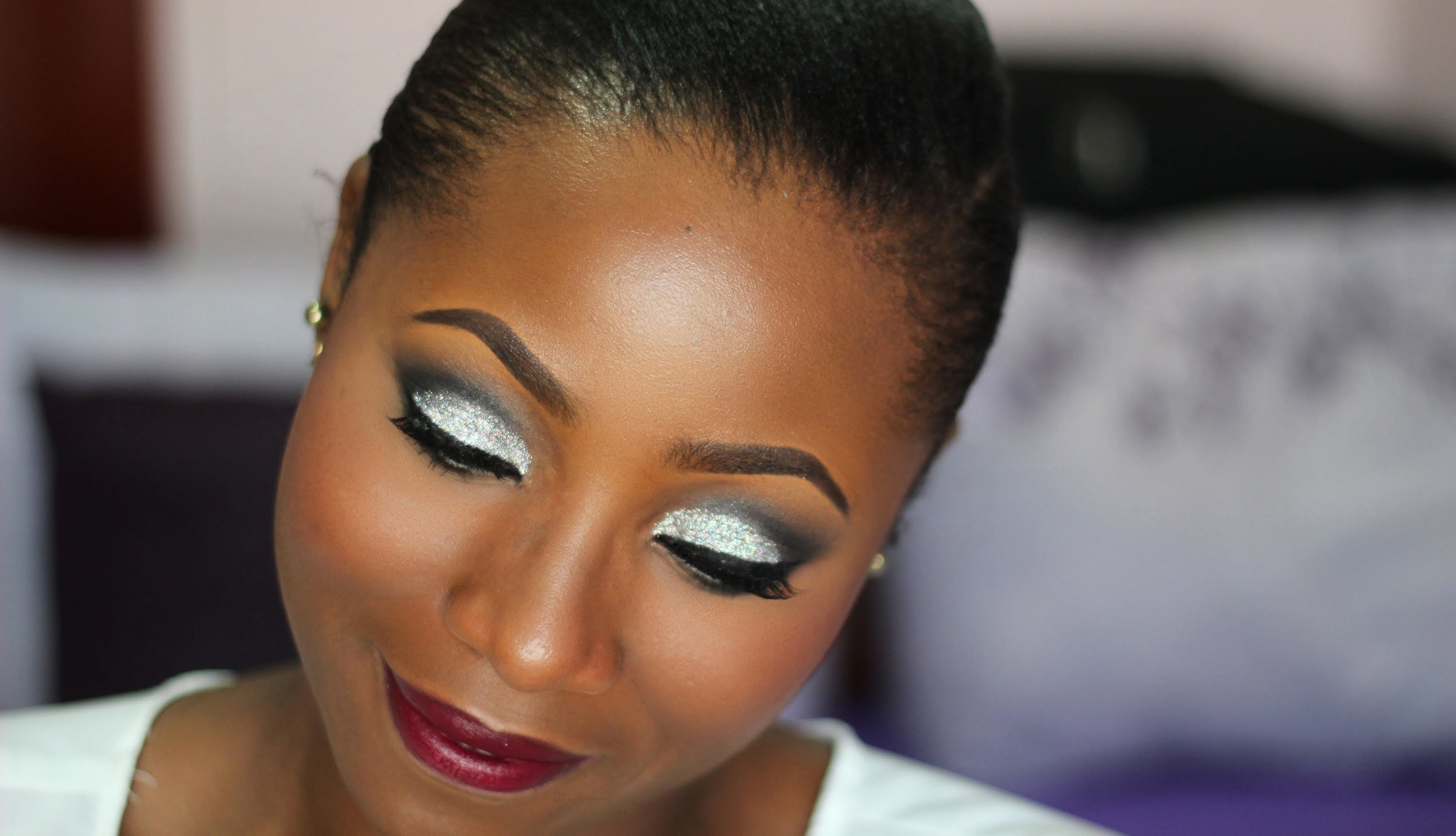 BEAUTIFUL GLOSSY EYE SHADOW LOOK FOR SOUTH AFRICAN WOMEN 5
