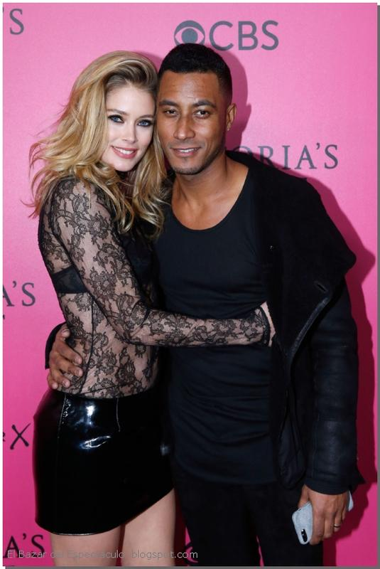 Doutzen Kroes & Sunnery James Pink Carpet 2016 VS Fashion Show.jpg