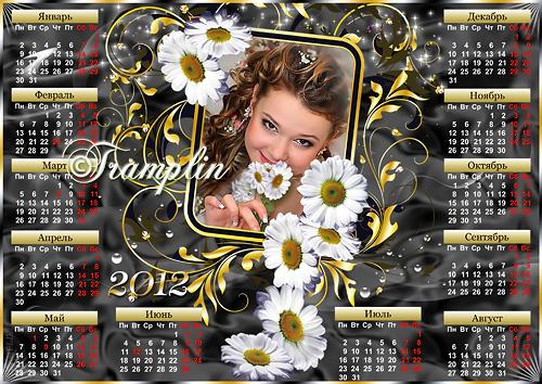 Календарь-Рамка  2012  с ромашками - Лепесткам свои желанья загадаю