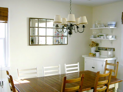 diy mirror dining space