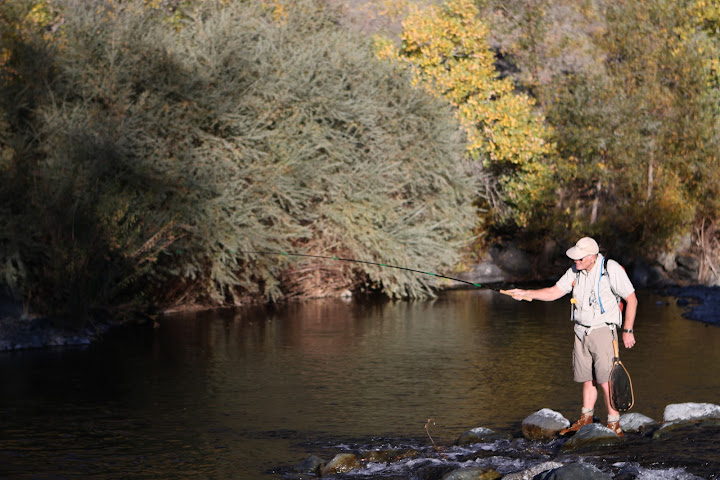 Wet wading with tenkara