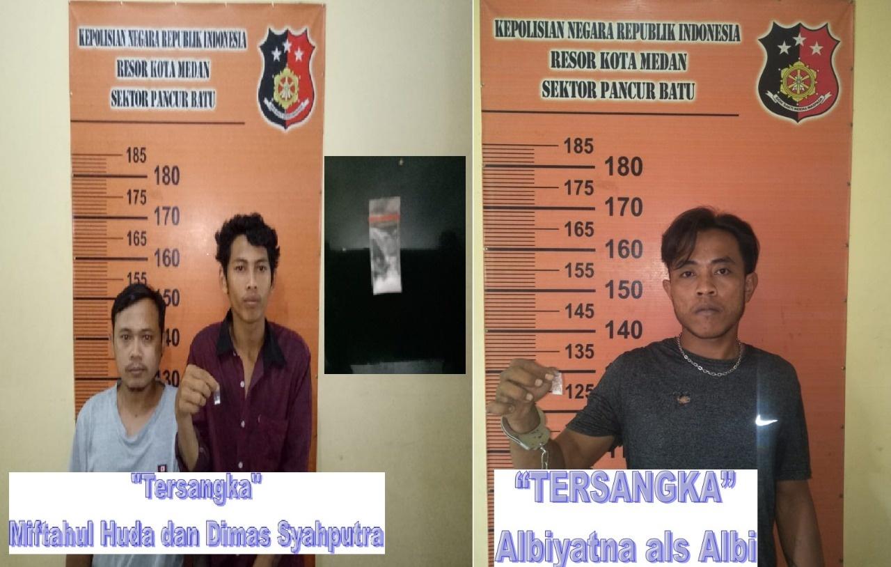 Tim Pegasus Pancur Batu Tangkap 3 Pria Yang Kedapatan Memiliki Sabu Sabu