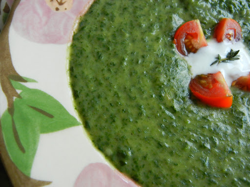 Moosewood cream of spinach soup [photo: NL]