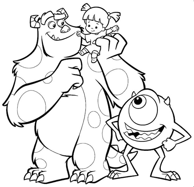 Disney Coloring Pages Monsters Inc Pixar Monsters Inc Coloring Pages Disney  Coloring Pages Monsters Inc