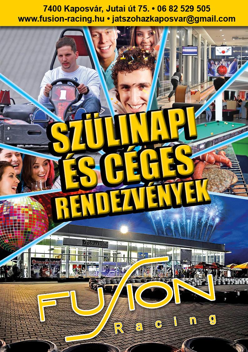Szülinapi és céges rendezvények a Kaposvári Fusion-ben!