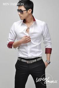 seven domu kemeja putih korea style sk10 2