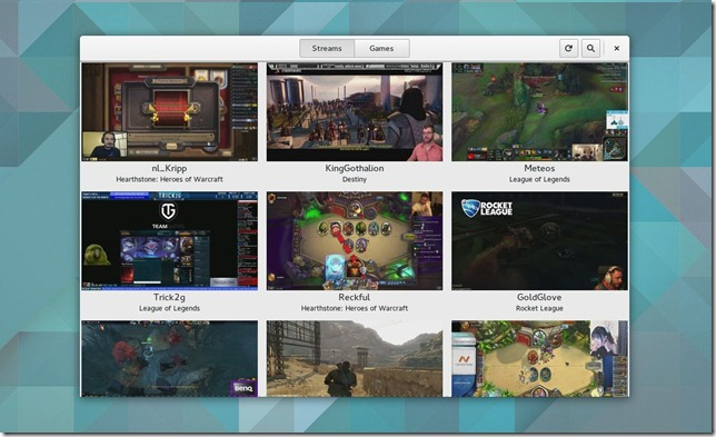 GNOME Twitch lo streaming dei game senza l'ausilio di flash.