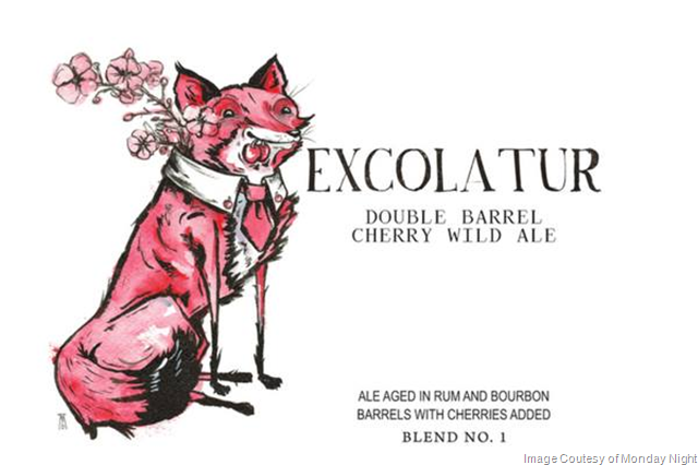 Monday Night Excolatur Double Barrel Cherry Wild Ale Coming 2/10