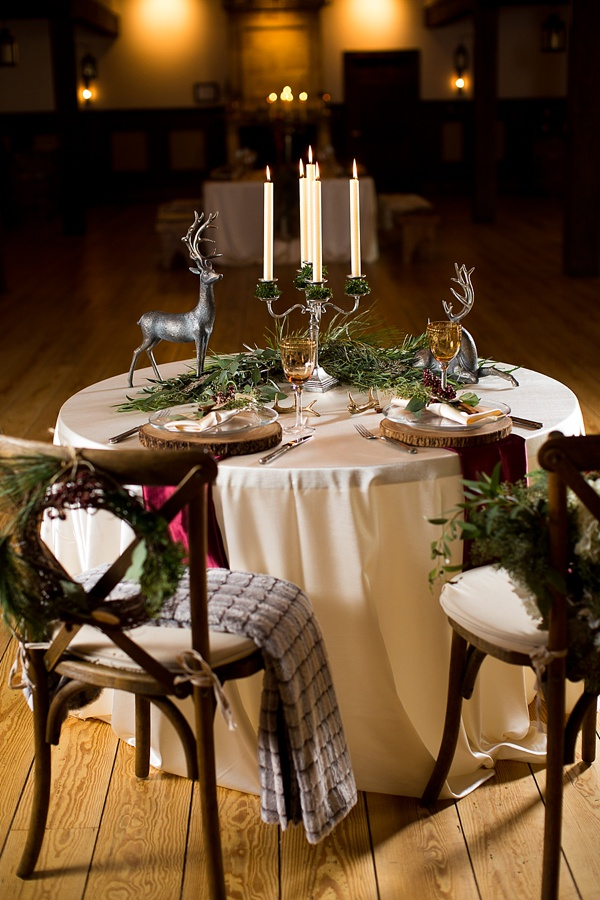 Rustic Winter Wedding Decor Inspiration Tidewater And