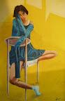 n. 7 L&#039;attesa - (olio ed acrilico su tela) cm 50x70<br /> -galleria privata-