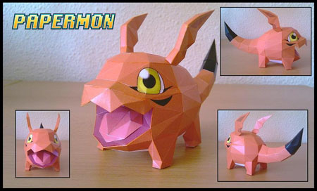Digimon Gigimon Papercraft