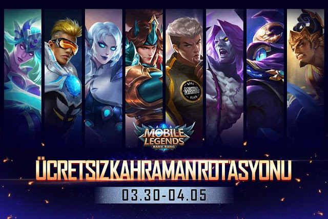 Ücretsiz Kahraman Rotasyonu 30 Mart - 5 Nisan / Mobile Legends