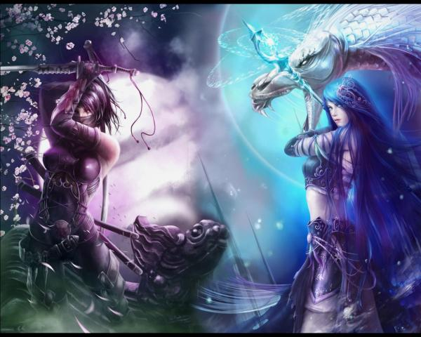 Warrior Girl And Dragon Girl, Spirit Companion 4