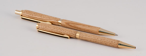"Photo: Bert Bleckwenn - 5"" pen/pencil set [chestnut]"
