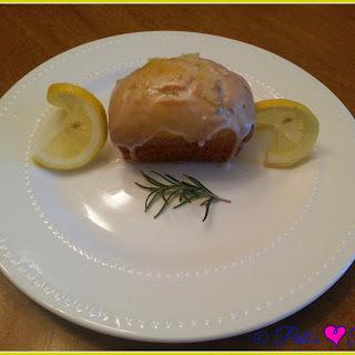 Italian Lemon & Rosemary Olive Oil Mini Loaf Cakes.