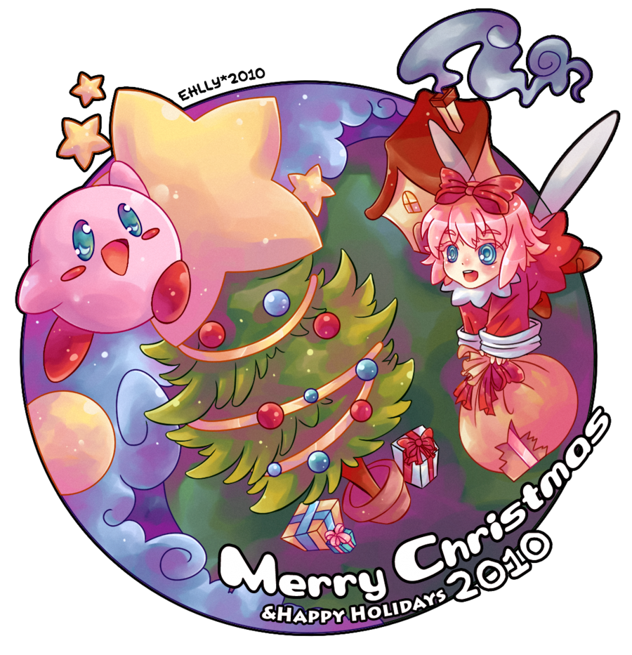 COTW Kirby can\'t wait to celebrate Christmas with his Friends!
