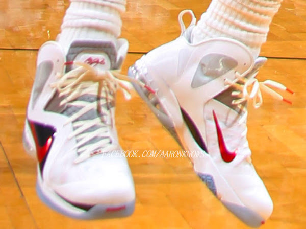 Closer Look at Nike LeBron 9 PS Elite 8211 Miami Heat Home PE