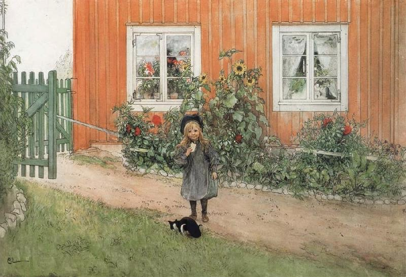 Carl Larsson - Brita With A Cat And A Sandwich