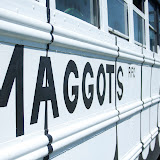 Adorned with a massive maggot logo, the Missoula All Maggots RFC bus stood sentinel over the weekend's festivities.