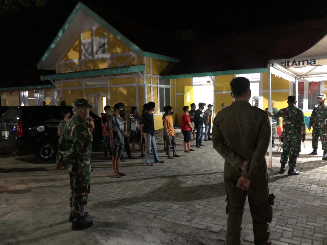 Ops Yustisi Patroli Gabungan Skala Besar Tegakkan Prokes Covid19 di Wilayah Kabupaten Soppeng