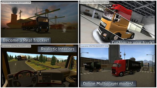 Simulation game is sure enough the correct genre for lonely peoples  Foneboy Euro Truck Driver Simulator APK Android Game Download