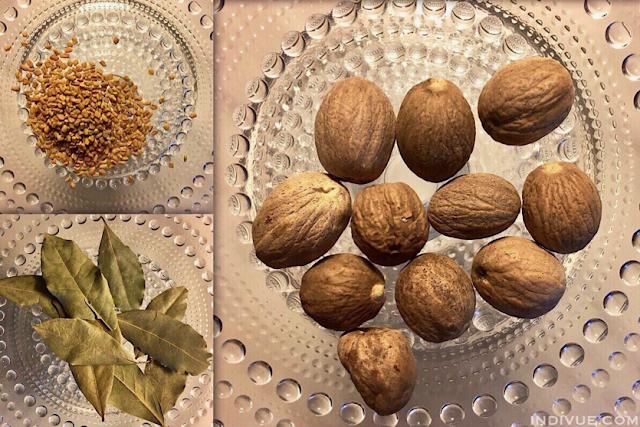 Muskottipähkinä ja muita intialaisia mausteita