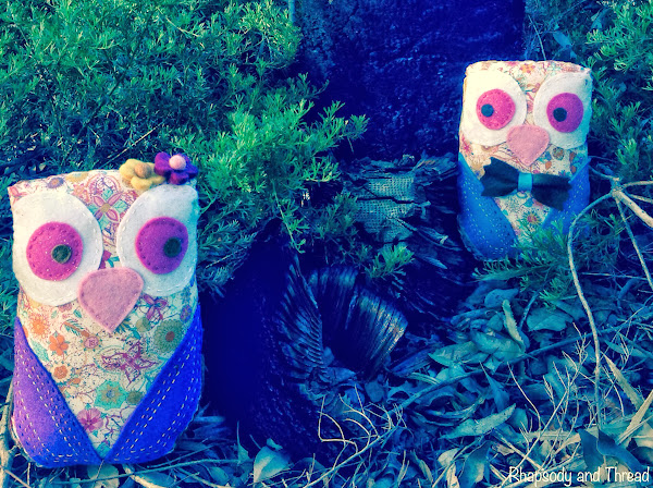Liberty Owl Pair by Rhapsody and Thread