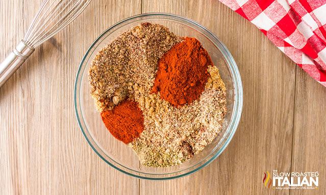 Sweet Rib Rub ingredients in a bowl