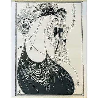 Aubrey Beardsley 'The Peacock Skirt' Print