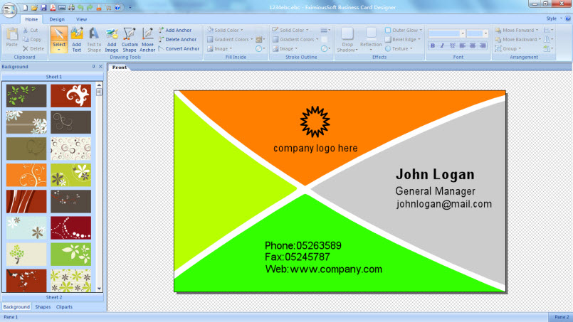 EximiousSoft Business Card Designer 5.11 + Portable