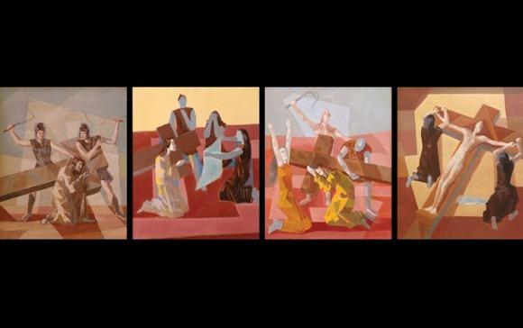 Via Sacra (4 delle 14 tele totali) - Candido Portinari, fonte:  blog do Liberato