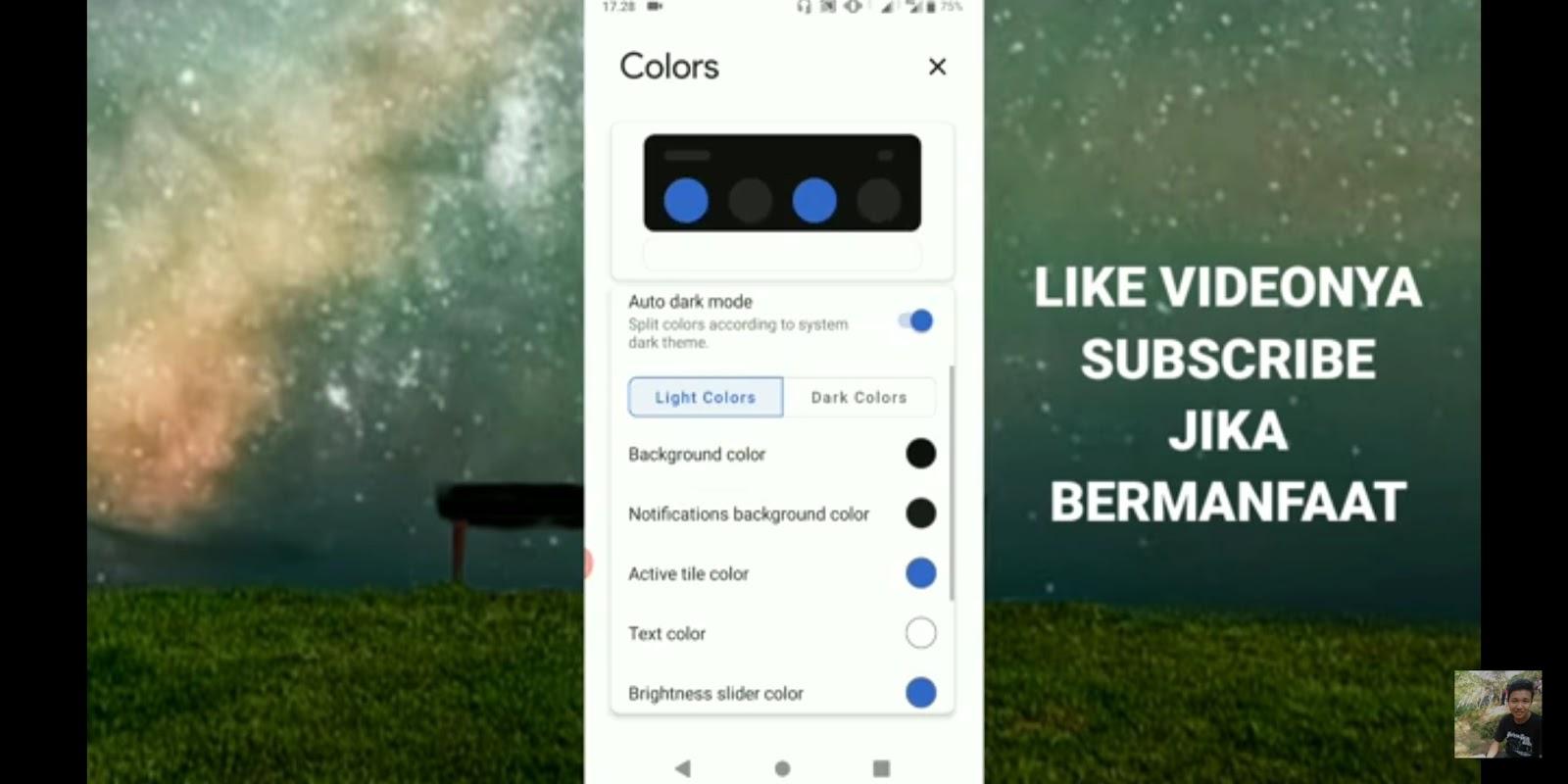 Cara Mengganti Notifikasi Bar HP Android Menjadi Mode Gelap