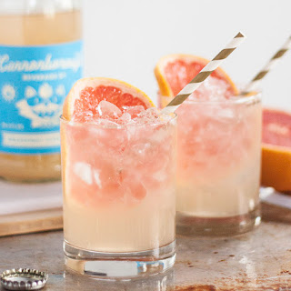 Two Ingredient Grapefruit Elderflower Cocktail.
