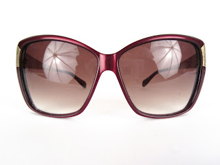 Oliver Peoples Burgundy Sunglasses