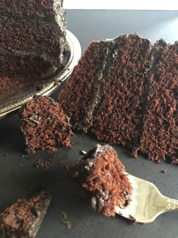 Southern Dark Chocolate Mayonnaise Cake