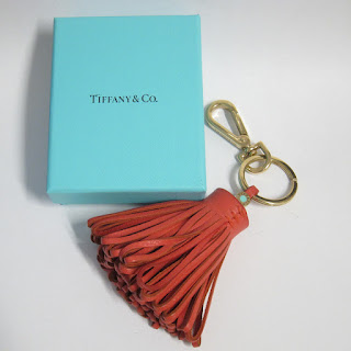 Tiffany & Co. Leather Tassel Keychain
