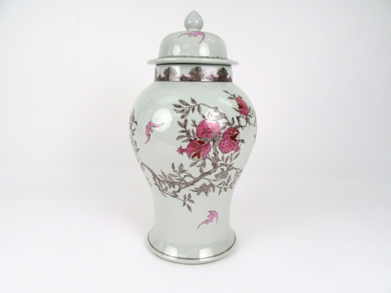 Flowers in Bloom  Porcelin Jar
