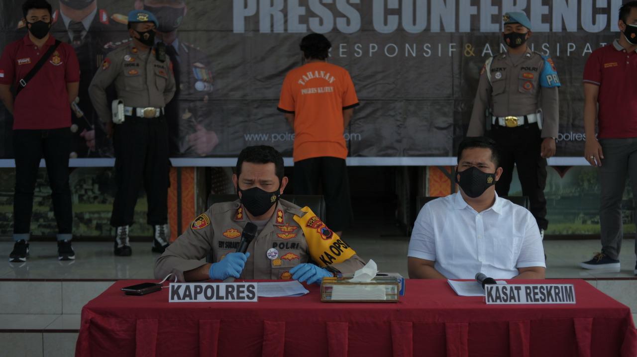 Kurang dari 24 Jam Sat Reskrim Polres Klaten Berhasil Bekuk Pelaku Pembunuhan di Borangan