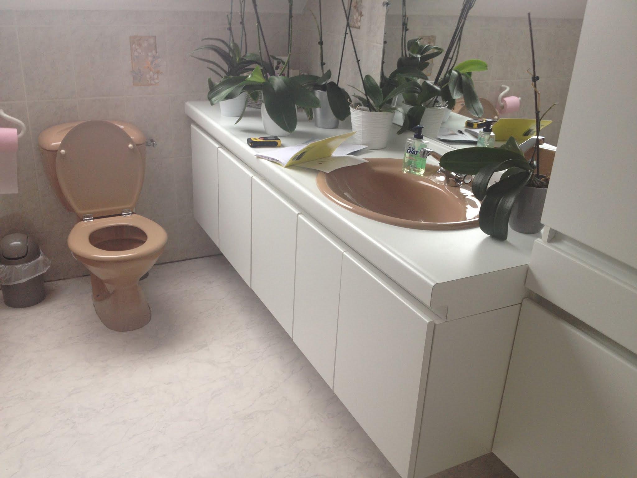 Rénovation d'une salle de bain avec l'ajout d'une douche   meuble ...
