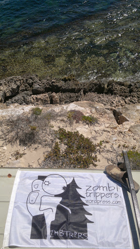Zombitrippers' flag at South Point